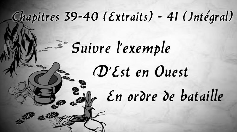 Chapitres 30 40 (extraits) et 41 (intégral)